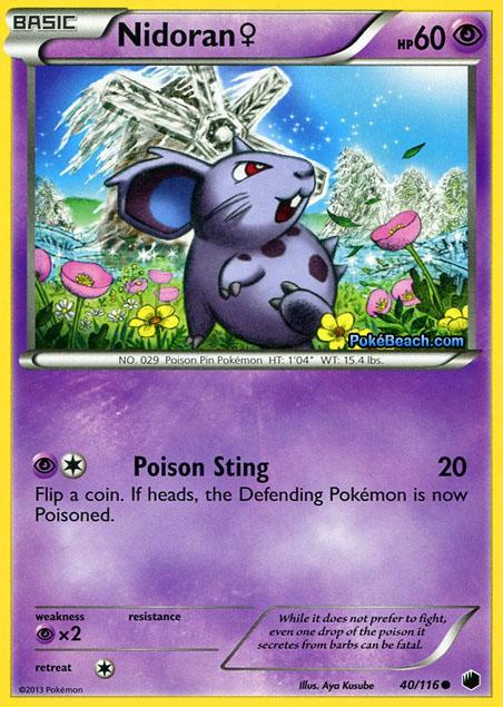 Nidoran #40/116 -- Plasma Freeze Pokemon Card Review ...