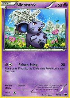 Nidoran #40/116 Plasma Freeze Pokemon Card