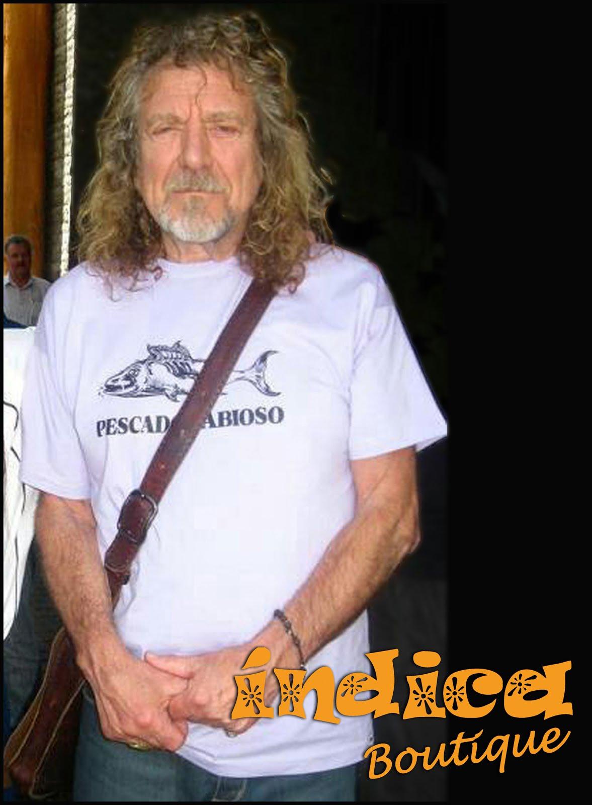 Robert Plant y la remera de Pescado Rabioso