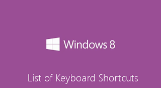 Collection of Shortcut Keys For Windows 8