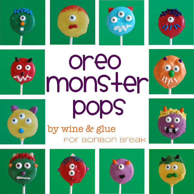 Oreo Monster Pops by Wine and Glue
