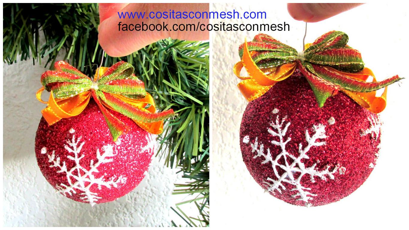 cmo hacer esferas navideas econmicas y fciles