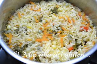 M s all del gluten arroz integral con verduras for Como cocinar 5 kilos de arroz