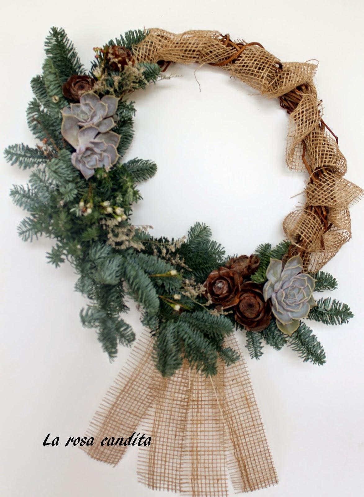 La rosa candita ghirlande e decorazioni natalizie - Decorazioni ghirlande natalizie ...