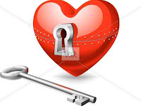 locked heart with key