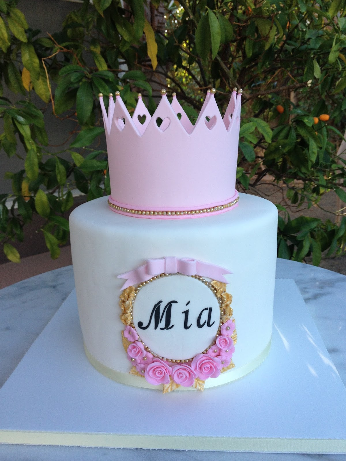 Sugar Chef PINK CROWN BABY SHOWER CAKE