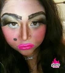 Excessive makeup