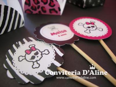 Toppers Docinho Caveirinha Monster High