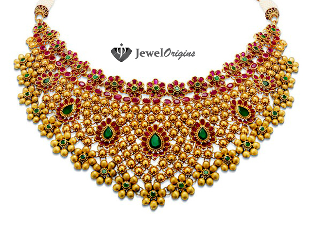 gold peacock set necklace plated designer