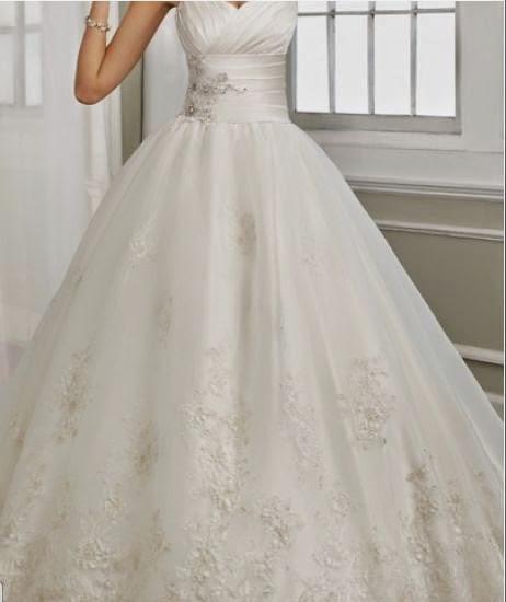 Vestido de Novia Strapless Estilo Princesa