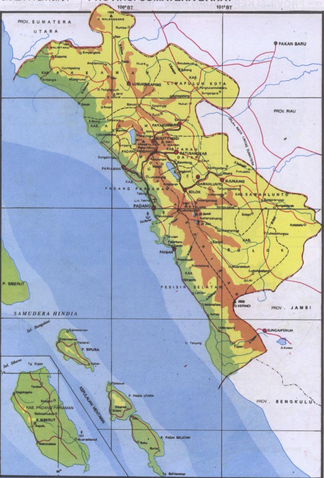 Peta Kota: Peta Provinsi Sumatera Barat
