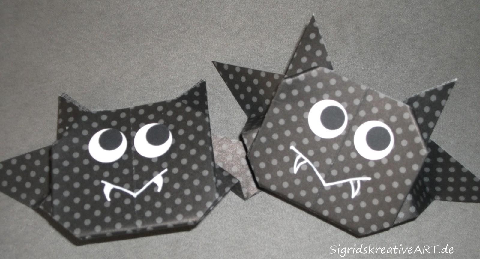 sigrids stempel studio tutorial origami fledermaus. Black Bedroom Furniture Sets. Home Design Ideas
