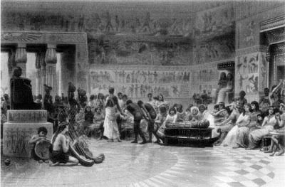 El hedonismo en el Antiguo Egipto se puede resumir en esta escena. Lacasamundo.com