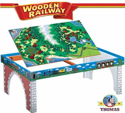 Model wooden railway Learning Curve Thomas the engine train table childrens bedroom furniture item