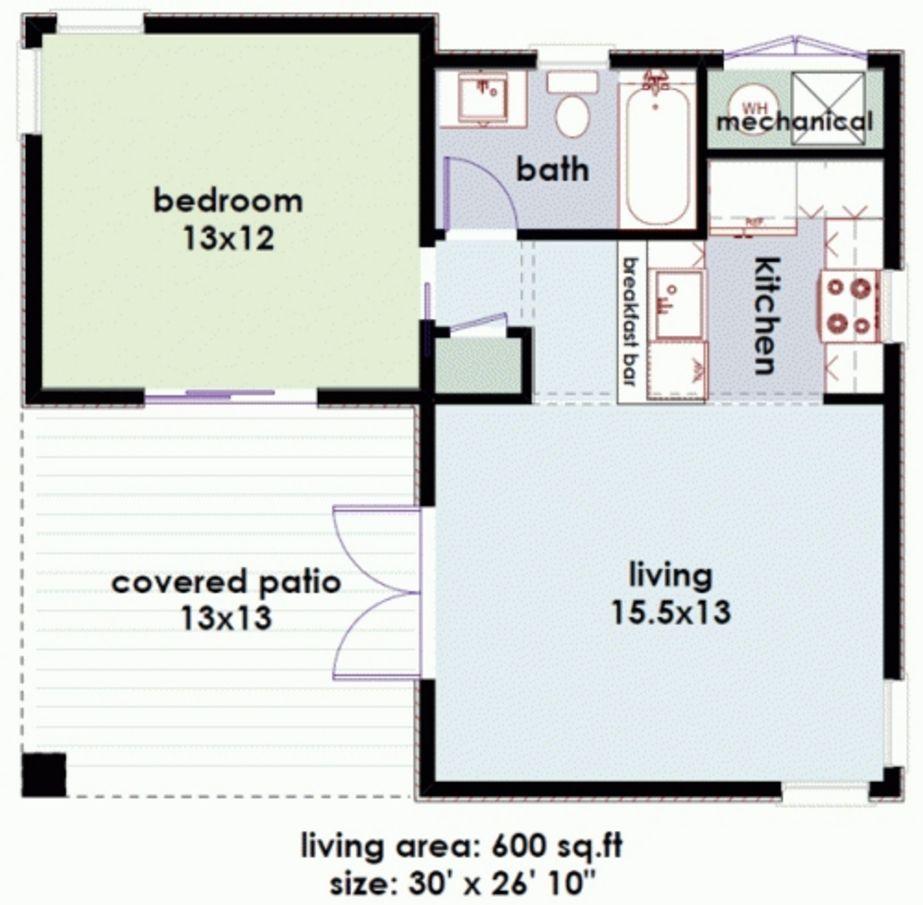 model denah rumah mungil tipe 21 populer
