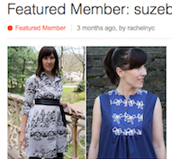 I was a Burdastyle.com Featured Member!