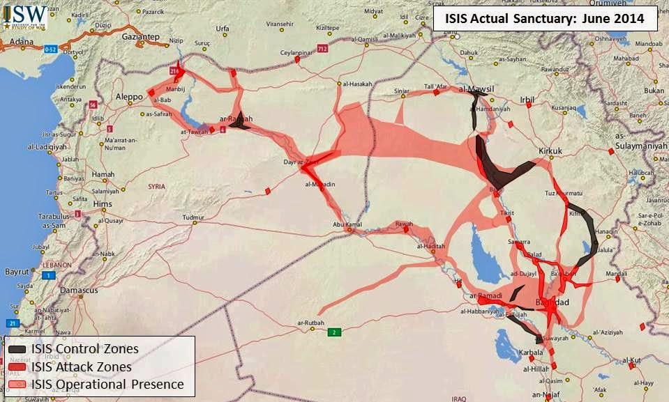 Isw blog updated map of isis sanctuaries in iraq and syria gumiabroncs Choice Image