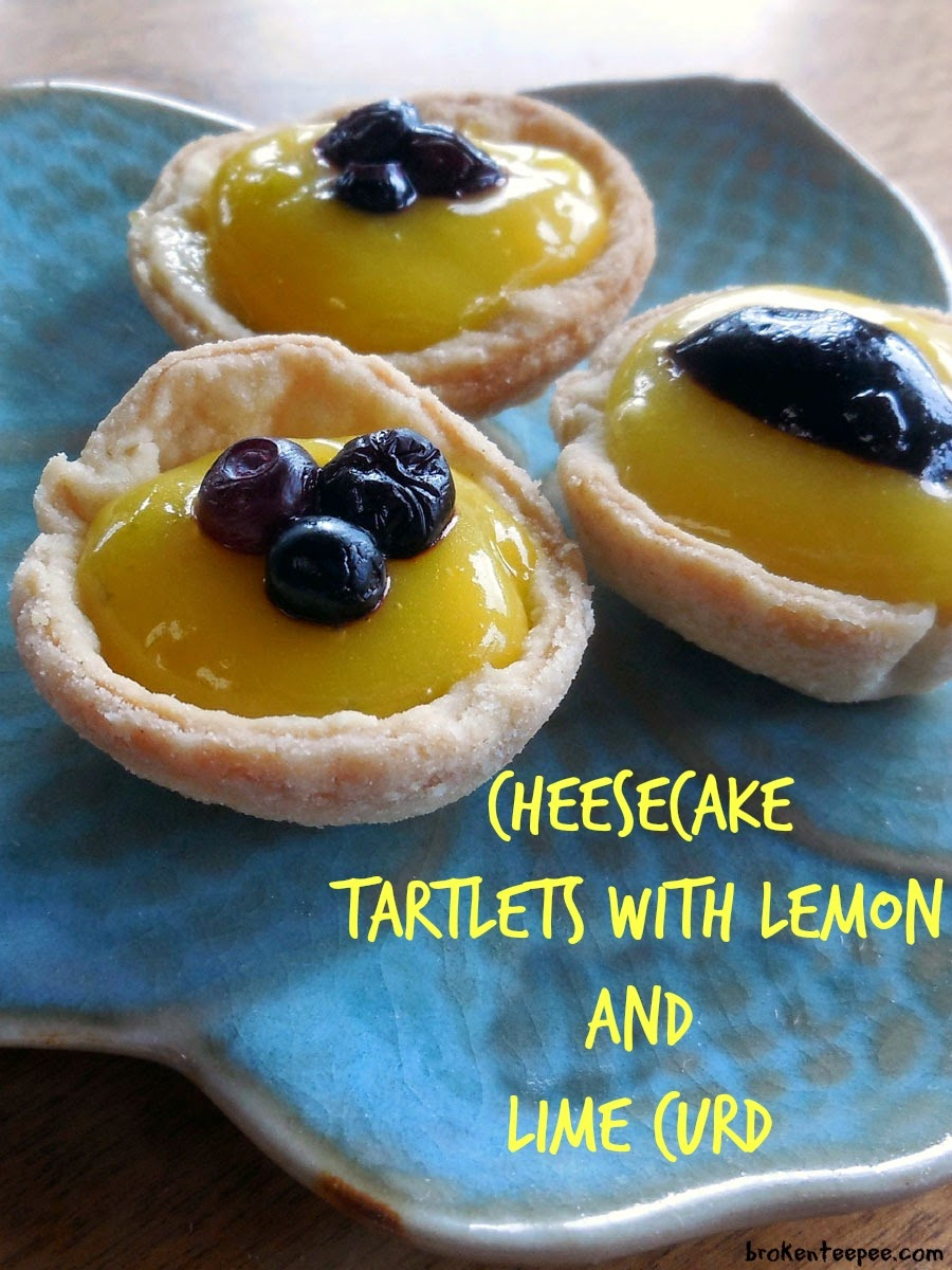 Cheesecake Tartlets with Lemon and Lime Curd
