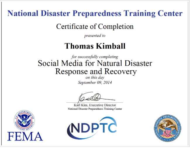Social Media for Natural Disaster Response and Recovery PER-304