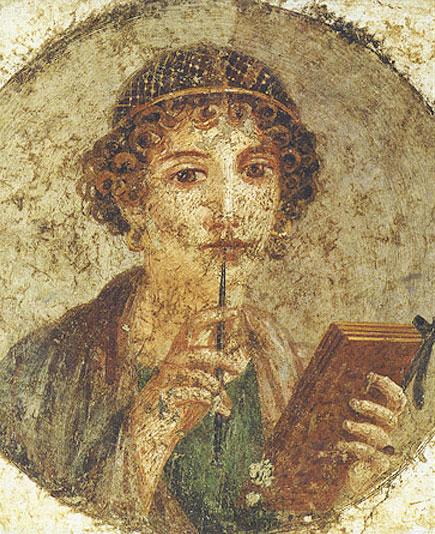 pompei portrait sappho