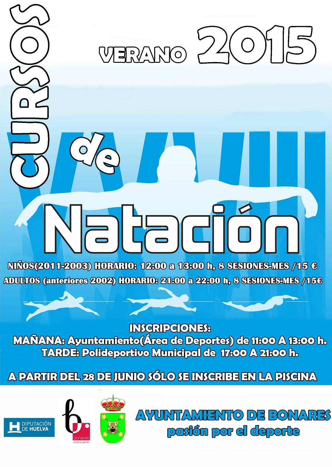 CURSOS  NATACIÓN VERANO 2015