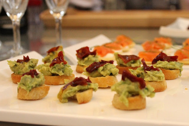 Gizzi Erskine BRITA Cookalong Avocado Salmon Canapes