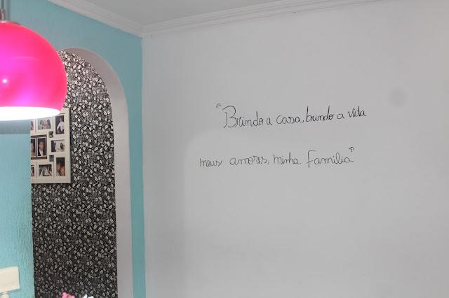 frases na decoração