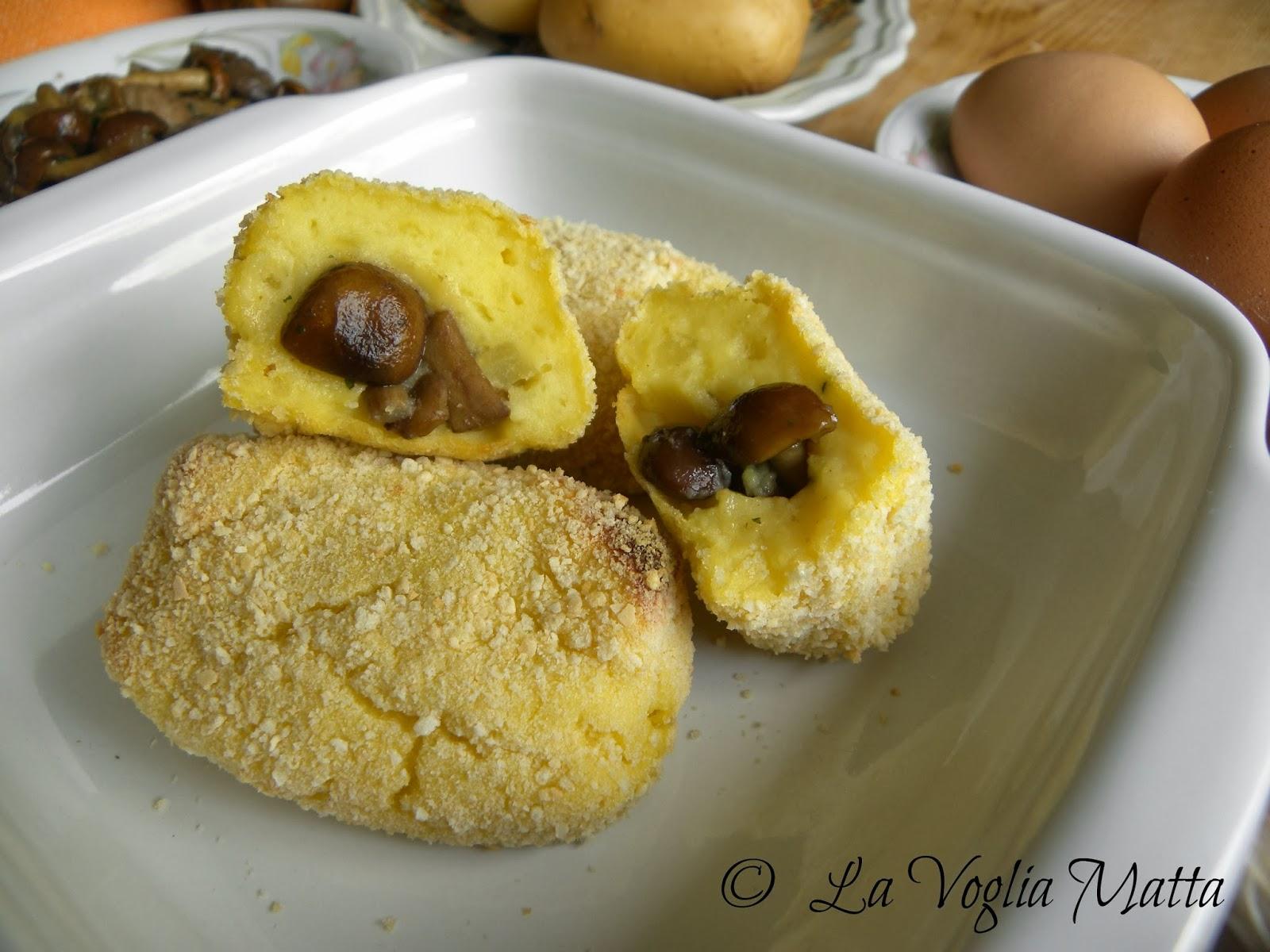 crocchette light di patate e funghi cotte al forno