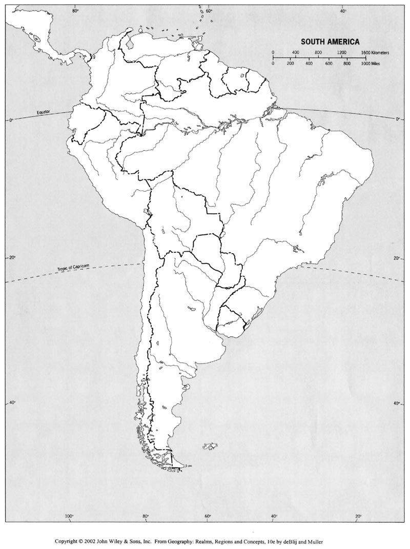 online maps  blank map of south america