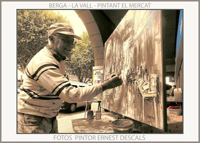 BERGA-PINTURA-MERCAT-BOLET-LLIBRES-LA VALL-FOTOS-PINTURES-PAISATGES-PINTOR-ERNEST DESCALS-