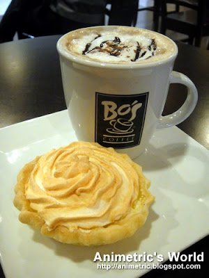 Caffe Mocha and Lemon Meringue Pie at Bo's Coffee