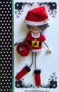Susies, sixties, Christmas, broches, fieltro, muñecas, navidad, handmade