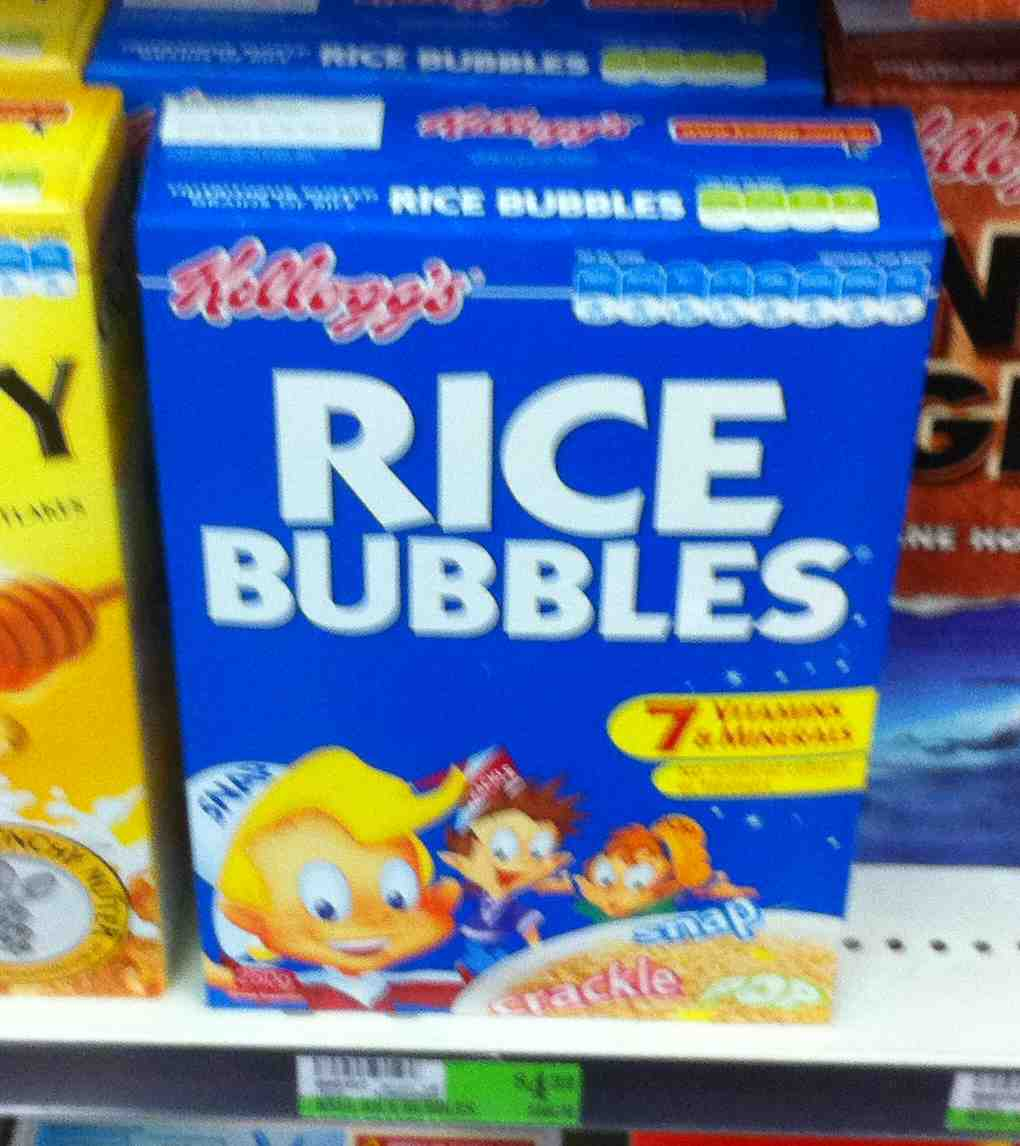 how to serve rice bubbles