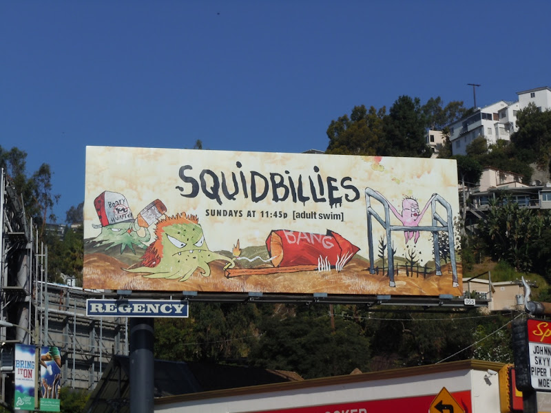 Squidbillies TV billboard