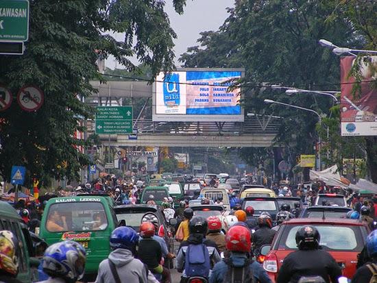 kemacetan lalu lintas dikota bandung
