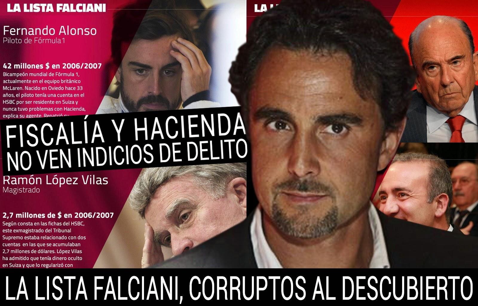 La lista Falciani, ignorada por la Fiscalía y Hacienda, así lucha el Partido Popular contra la corrucción.