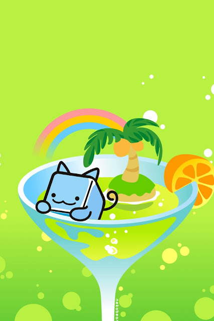 Sweet Kitty Love Tropical Cocktail for Iphone