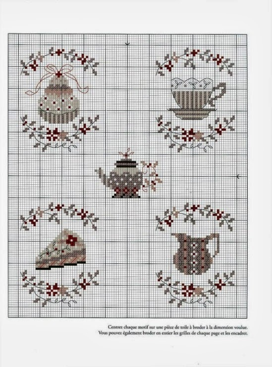 Вышивка монохромная для кухни 5