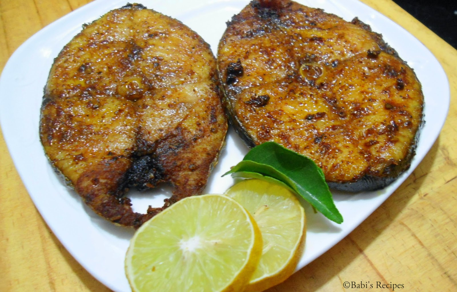 babi 39 s recipes king fish fry vanjaram meen varuval