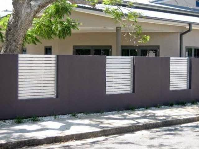 Desain Tembok Pagar Rumah Minimalis Sederhana