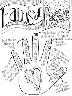 look to him and be radiant hands of prayer
