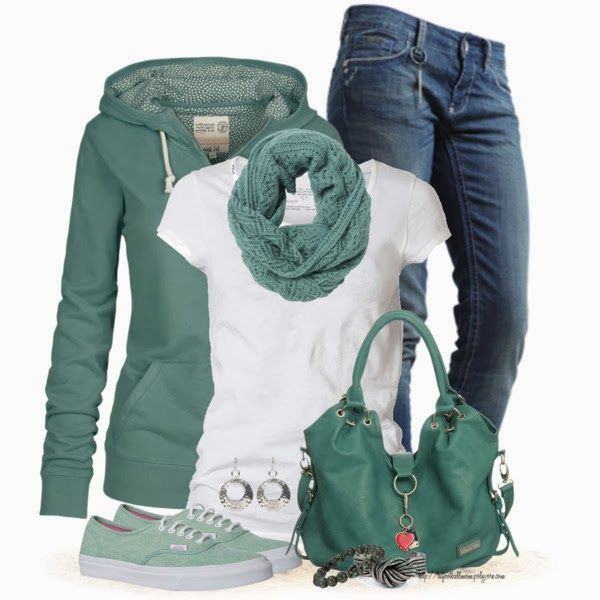 Cute and Casual Mint Outfit