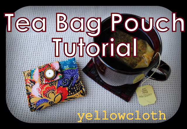 how to sew a small pouch, tea bag pouch tutorial.