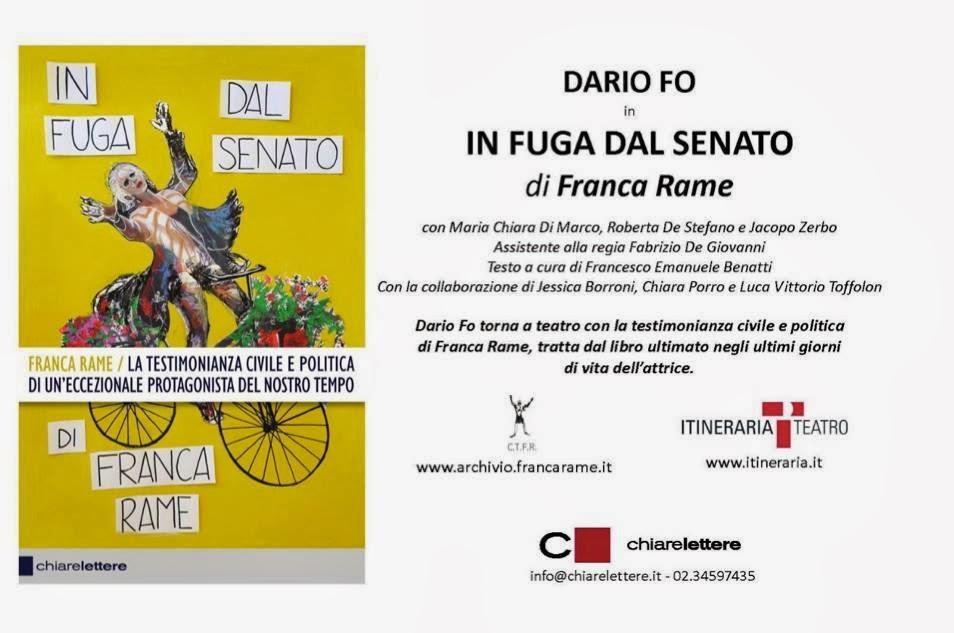 """DARIO FO TORNA IN TEATRO CON """"IN FUGA DAL SENATO"""" DI FRANCA RAME"""