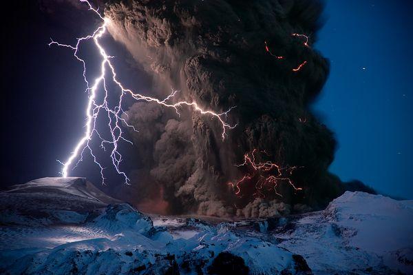 Volcano Lightning, Iceland