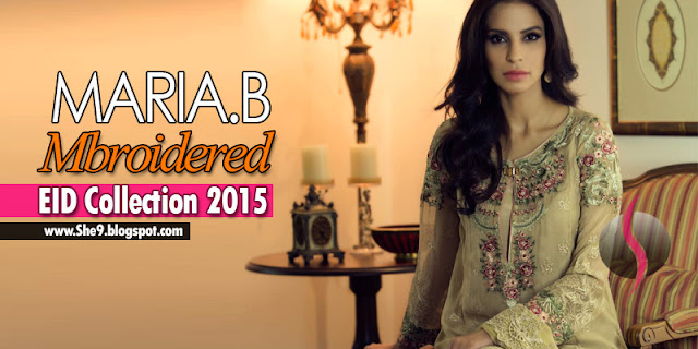Maria-B Mbroidered Eid Collection 2015 Magazine