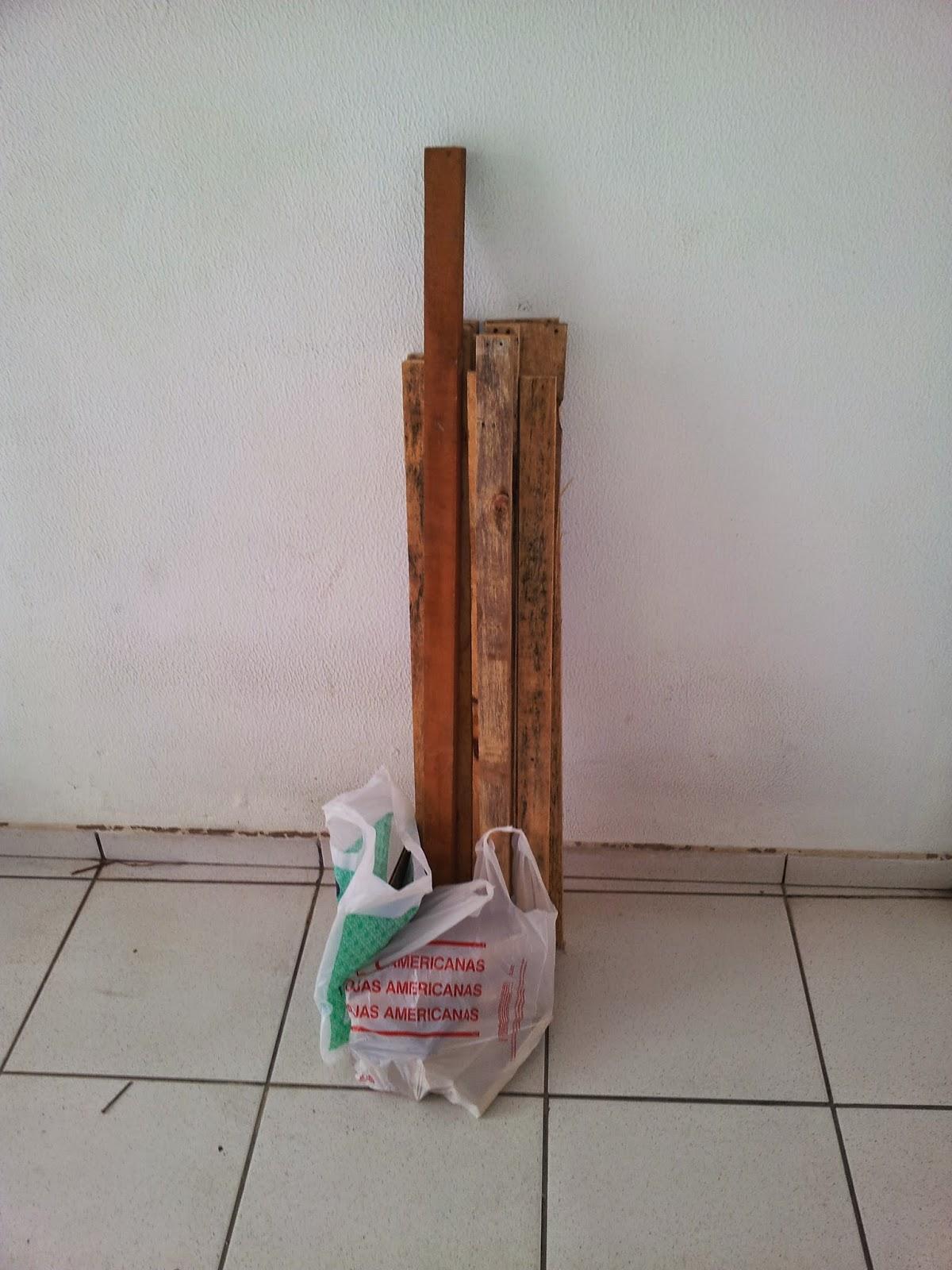 Oficina do Quintal: Como fazer banco de madeira com encosto #6D402D 1200x1600