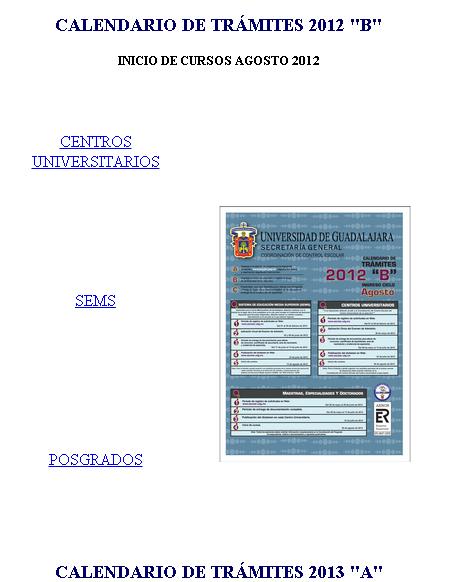 Tramites UDG Escolar Ingreso 2012-B 23 Julio