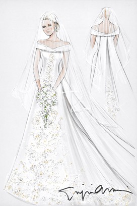 Off white wedding dress with white veil black