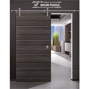 modern barn doors designs - interior sliding barn door hardware